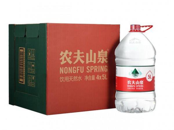 �r夫山泉 �用水 �用天然水5L*4桶 整箱�b 桶�b水