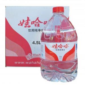 娃哈哈 大瓶�V泉�@�M入第四�铀��用水��羲�4.5L*4桶�V泉水桶�b水瓶�b水家庭用吸力水