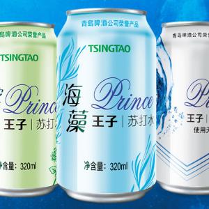 青岛啤酒王子海藻味苏打水